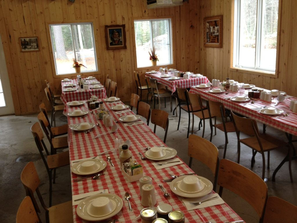 table section cabane